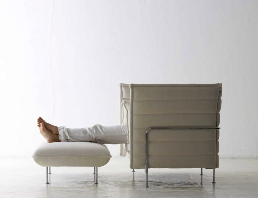 Canap alcove sofa love seat angle droit design grenoble for Canape alcove bouroullec