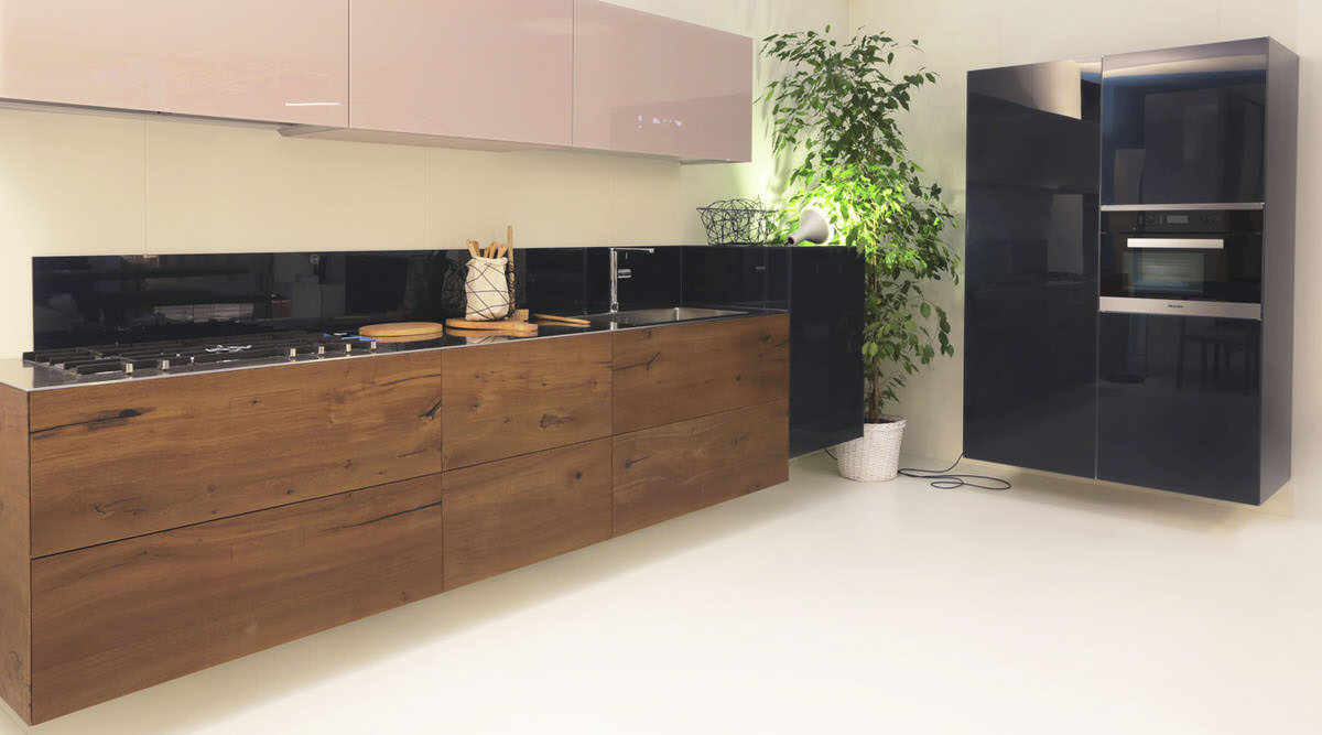 Cuisine 36e8 wildwood kitchen a angle droit design for Cucine lago prezzi