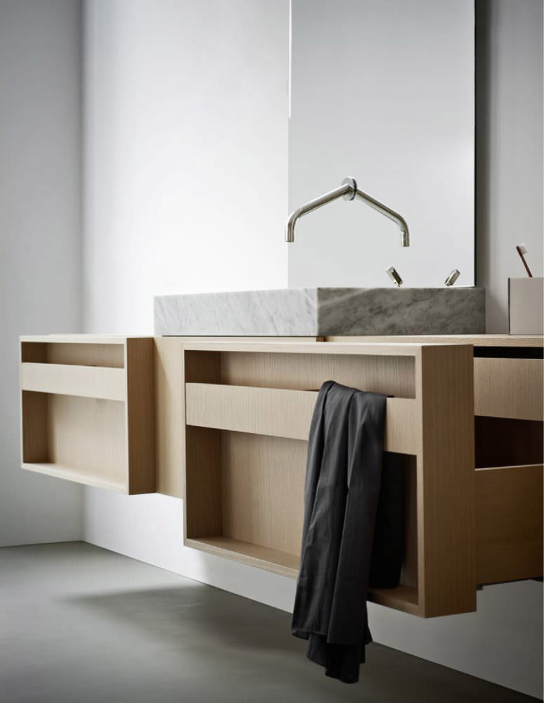 meuble de salle de bain flat xl plus angle droit design. Black Bedroom Furniture Sets. Home Design Ideas