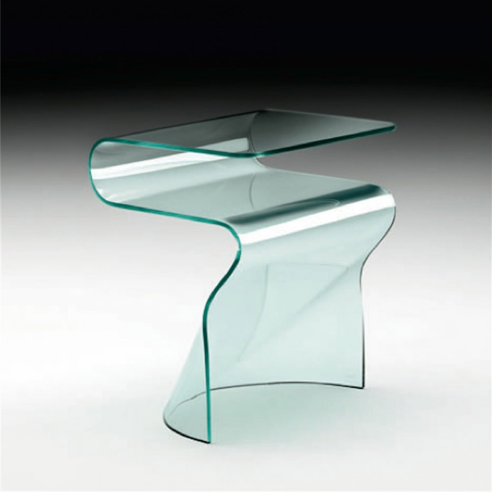 Table de nuit toki angle droit design grenoble lyon - Table de chevet en verre ...