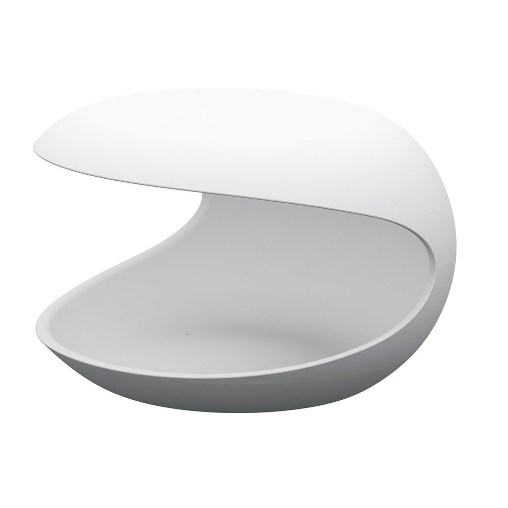 Table de nuit white shell angle droit design grenoble - Table de nuit d angle ...